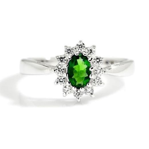 Magnifico Tsavoritt og Diamanter