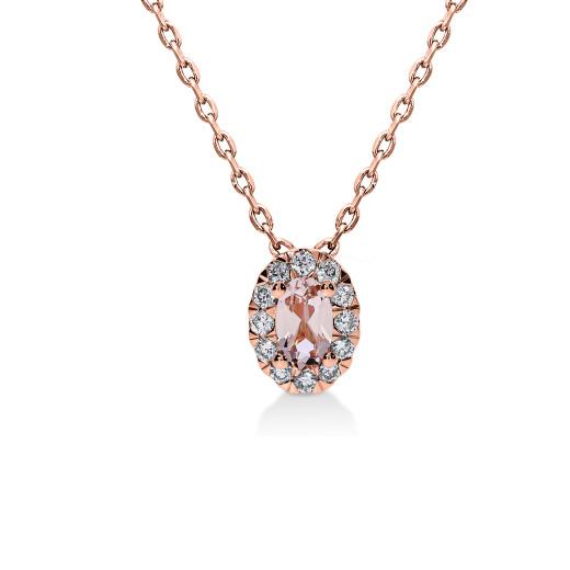 Aura Smykke - Morganitt og Diamant