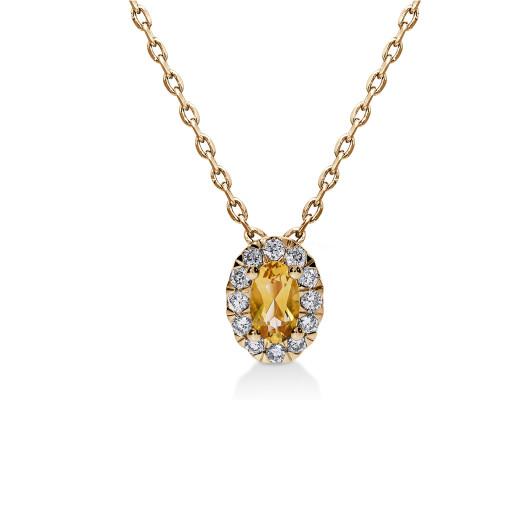 Aura Smykke - Sitrin og Diamant