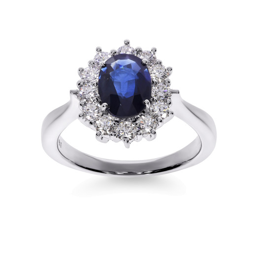 Magnifico Neo III Ring Safir og Diamanter