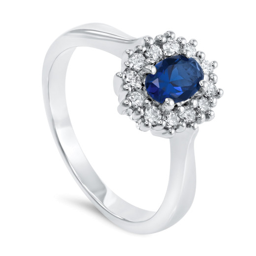 Magnifico Neo Ring Safir og Diamanter