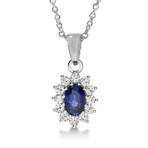 Magnifico Anheng Safir og Diamanter