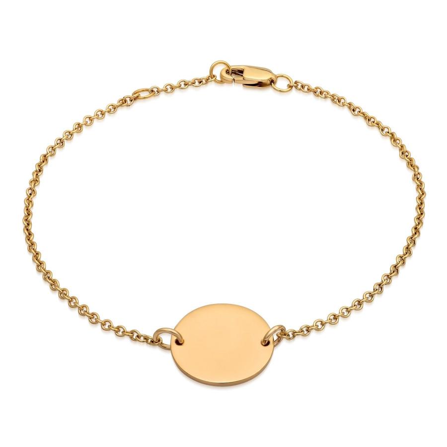 Gullmedaljong - Armbånd