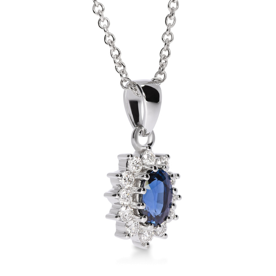 Magnifico Anheng Safir og Diamanter tw/vs