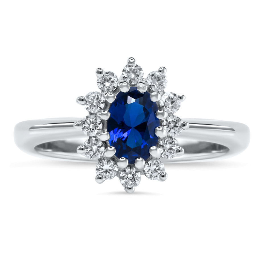 Magnifico Ring Safir og Diamanter