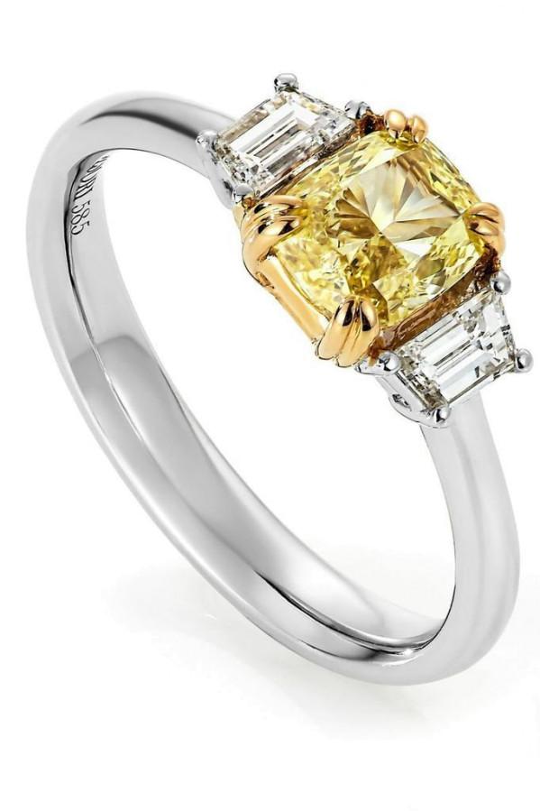 Diamantring - Gul Diamant 1,83ct