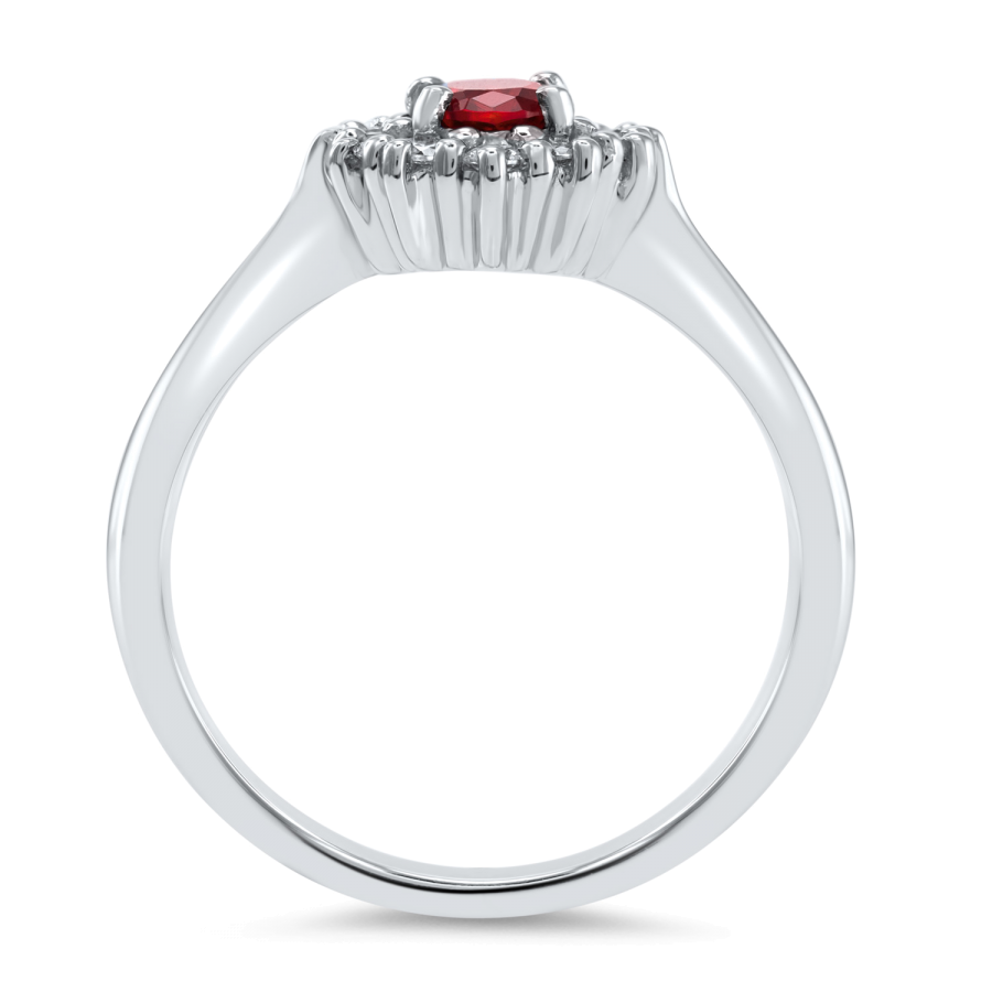 Magnifico Neo Ring Rubin og Diamanter